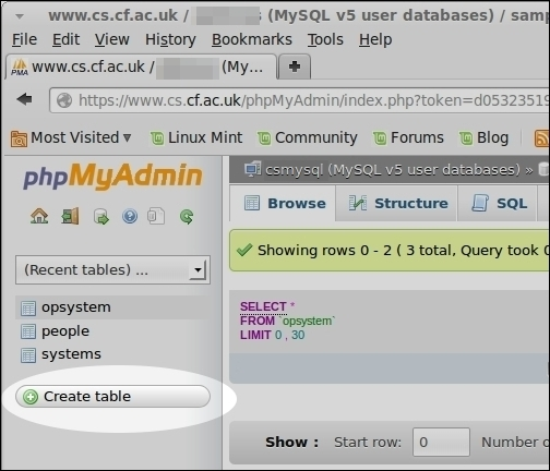 how to create relational database in phpmyadmin